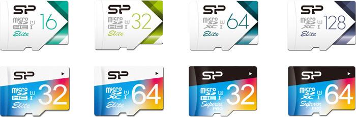 シリコンパワー(Silicon Power)microSDカード 商品ラインナップ