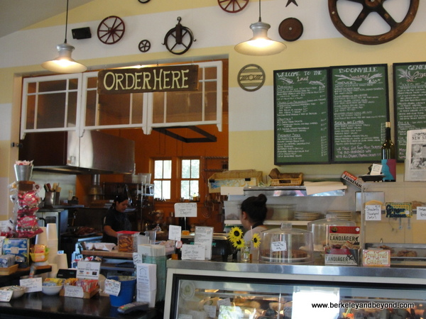 order counter at Boonville General Store in Boonville, California