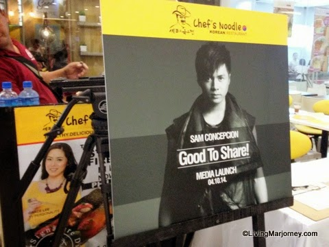 Sam Concepcion Endorses Chef's Noodles