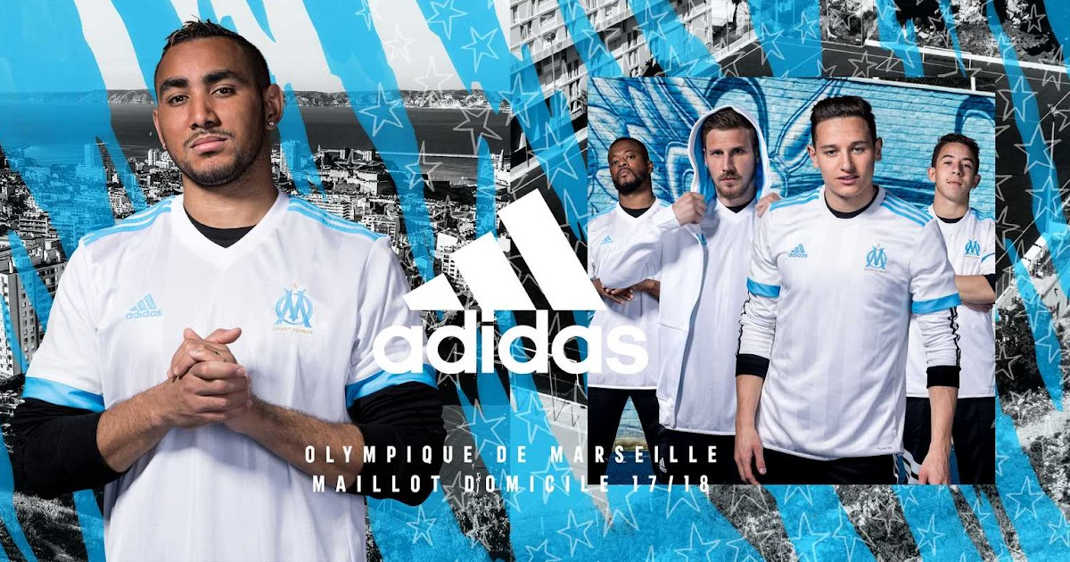 Olympique marseille 17 18 home kit released footy headlines - French premier league table ...