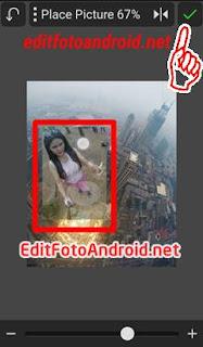 Edit Foto Di Atas Gedung Tinggi selfie pakai tongsis