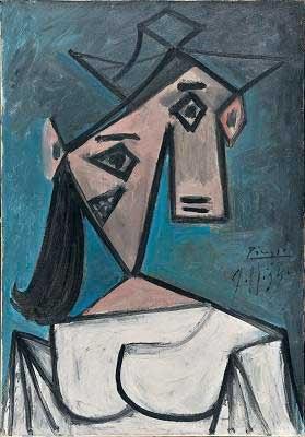 Pablo Picasso - πίνακας ζωγραφικής, λάδι σε μουσαμά.
