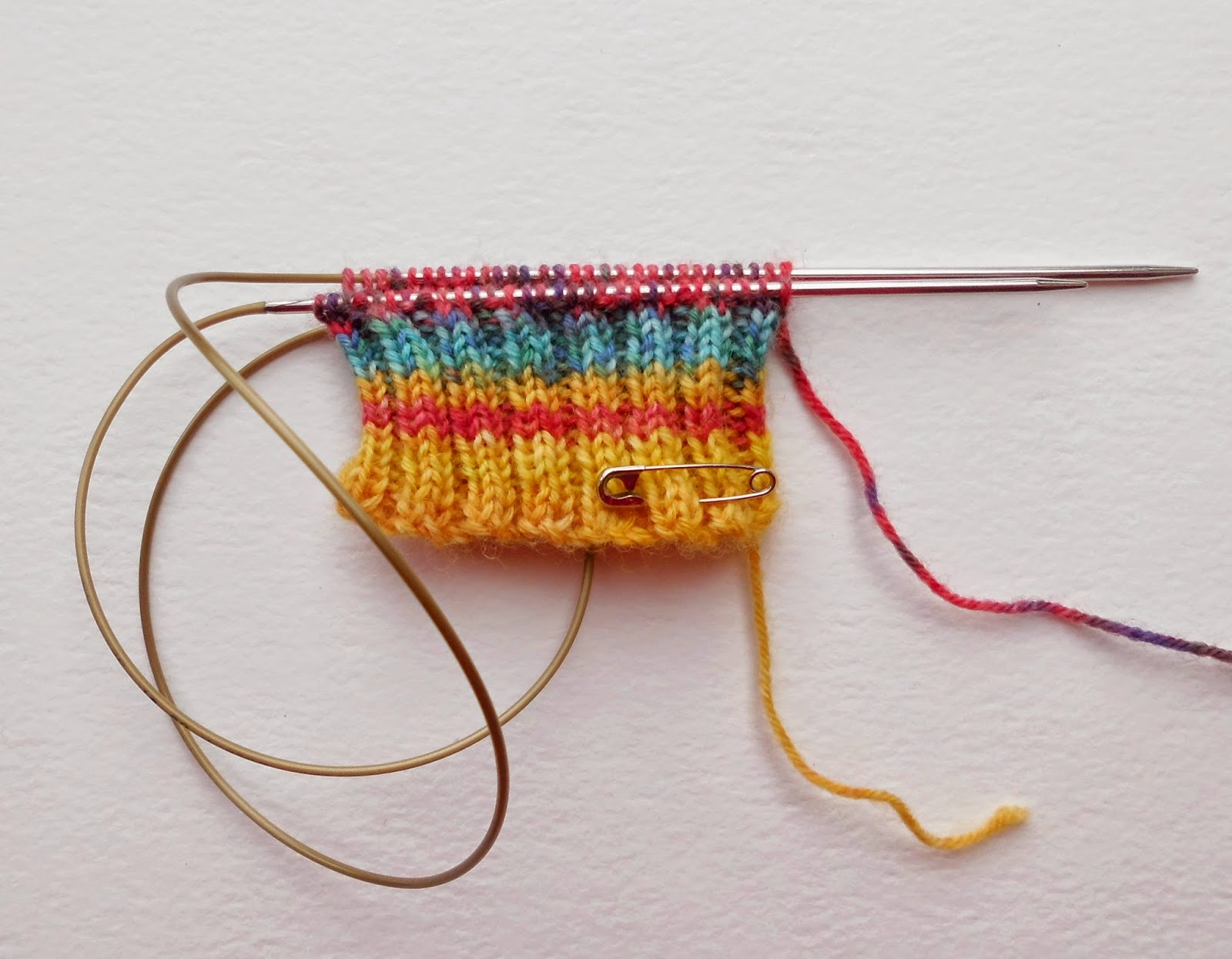 Beginner sock knitting - Winwick Mum Sockalong - knitting with magic loop
