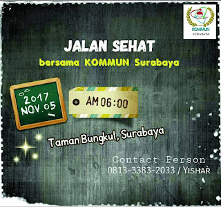 Jalan Sehar Bersama KOMMUN Surabaya