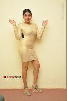 Actress Pooja Roshan Stills in Golden Short Dress at Box Movie Audio Launch  0131.JPG