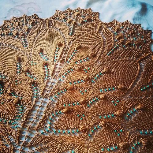 Aeolian Shawl (Turquoise Path) - Free Pattern