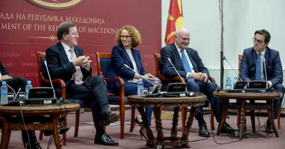 "Robertson, Solana, Le Roy, Ischinger and Gelbard as the ""Ohrid Group"" will help with the EU and NATO"