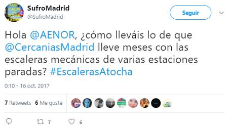 Cercanías Madrid lleva meses con escaleras mecánicas paradas