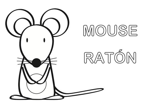 Dibujos Para Colorear: Ratón Para Colorear