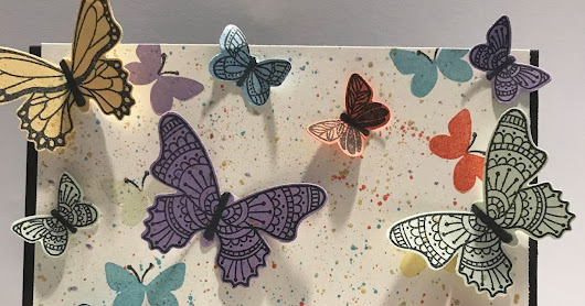 Colorful Butterfly Gala Card