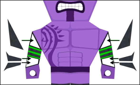 attaching faceless void's arm-bands