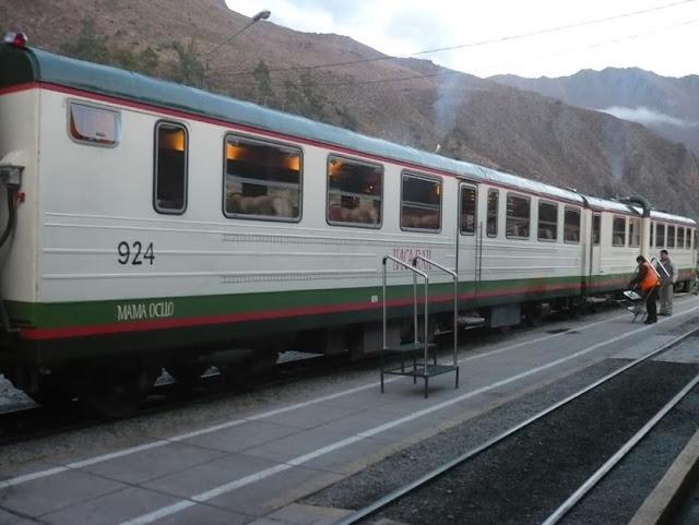 treno Inca rail per Machu Picchu