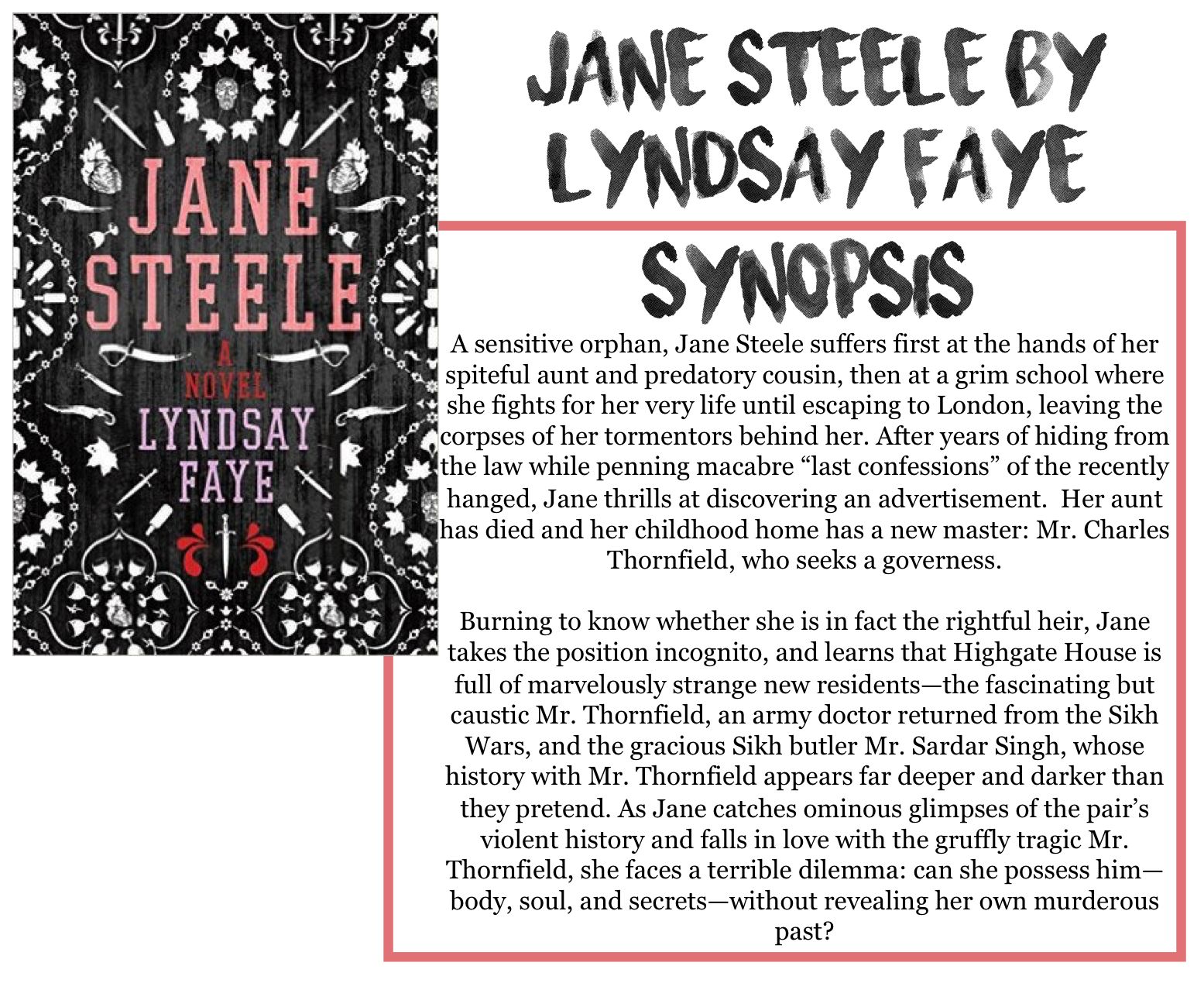First Let Me Just Say That I Have Not Read Jane Eyre So Naturally Cannot Comment On This Books Likeness Or Faithfulness In Terms Of A Retelling