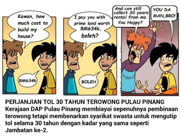 Mengapa Lim Guan Eng Tiba-tiba Berubah Daripada Terowong Kepada Jambatan?