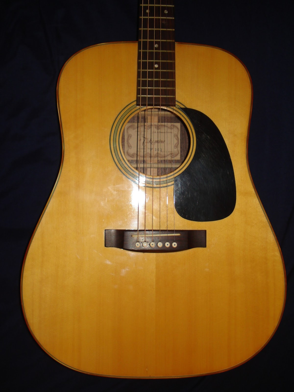 Socal Gear Museum 1973 Takamine Model No F360 Acoustic Guitar