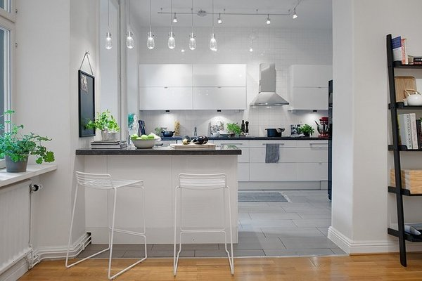 Modern Kitchen Cabinets White Horizontal