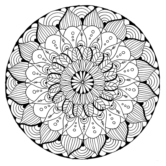 free printable coloring pages mandala designs | alisaburke: new coloring page in the shop!