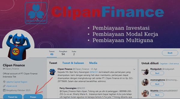 untuk cek atau menanyakan informasi terkait clipan finance