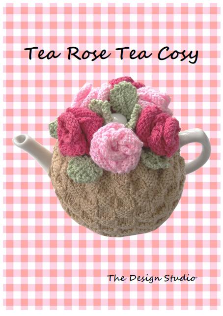 The Tea Rose Tea Cosy Hand Knitting Pattern