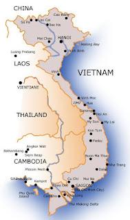 Mapa de Vietnam.