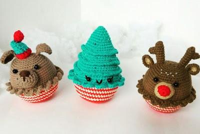 Новогодние игрушки крючком собачка елка олень