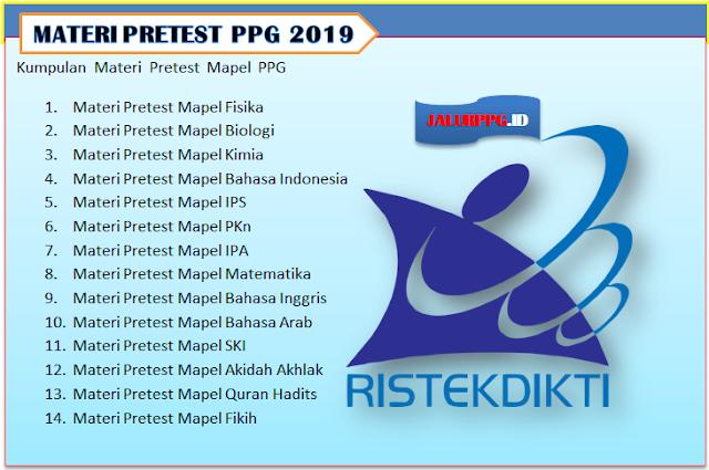 Kumpulan Materi Pretest Mapel PPG