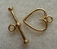 gold heart clasp