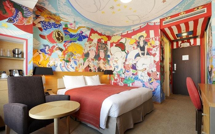 No.08 Park Hotel Tokyo Artist Room 'Festival' designed by Nanami Ishihara
