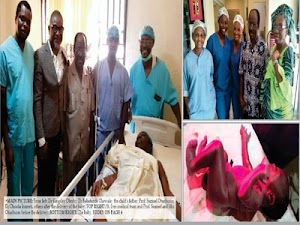 GOD OF WONDERS!! Nigerian Woman Gives Birth To First Child At 67