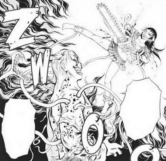 Actu Manga, Akata, Bloody Delinquent Girl Chainsaw, Critique Manga, Horreur, Manga, Seinen, WTF,