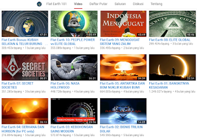 Ilustrasi Video Konspirasi Bumi Datar