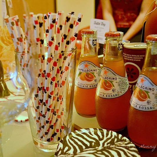 Ladies' Game Night Out poker paper straws