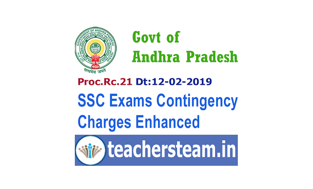 Enhancement of contingency charges for SSC Public Examinations