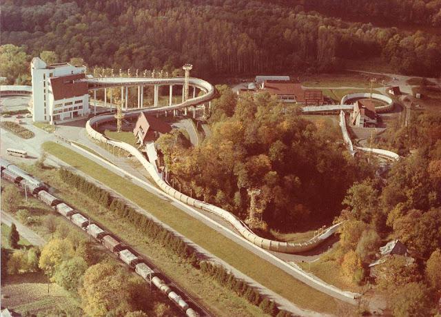 Siguldas bobsleja un kamaniņu trase. Sigulda. Autors nezināms. Foto no J.I.Čivča personīgā arhīva
