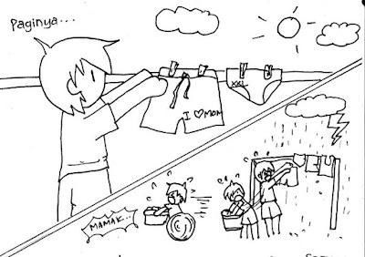 cara mengeringkan cucian di musim hujan