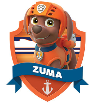 Imagen para imprimir gratis de Paw Patrol o Patrulla Canina Zuma.