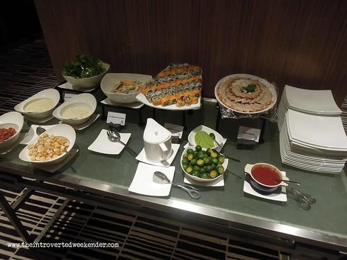 Food at the Holiday Inn Makati