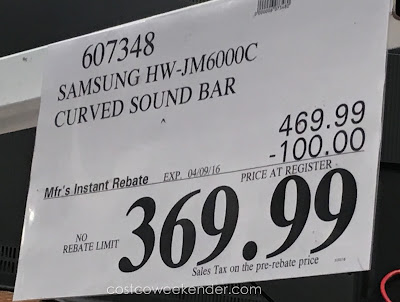 Deal for the Samsung HW-JM6000C Curved Sound Bar AH69-04446L at Costco