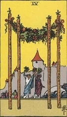 Four of Wands, RWS