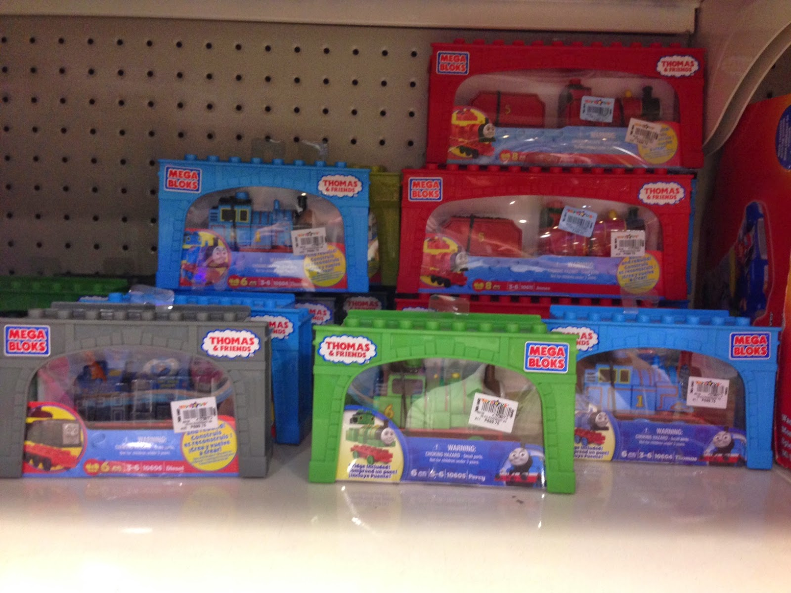 Toy SALE : Mega Bloks Thomas and Friends train characters/ engines at 50% off