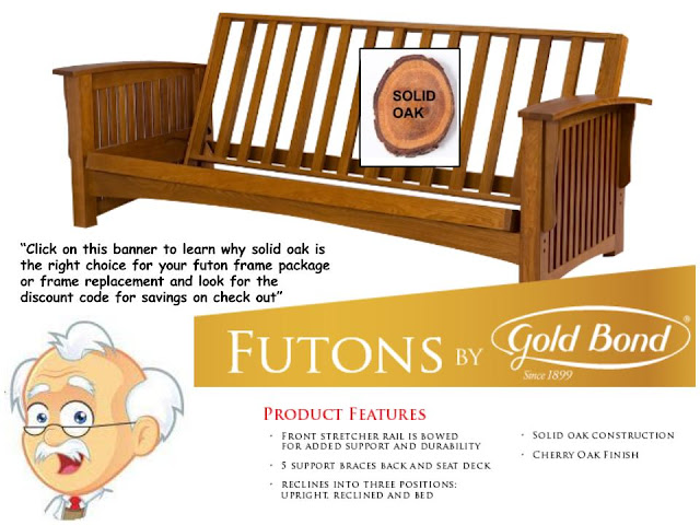 Solid Oak Futon Frames By Gold Bond