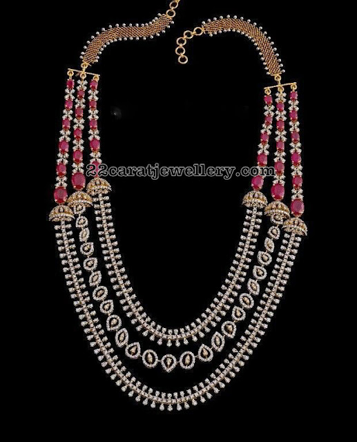 Three Layer Diamond Ruby Set