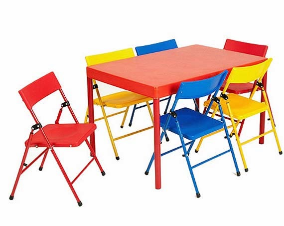 5 Piece Kids Folding Table and Chairs picture