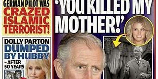 Revista Globe - suposto encontro de Charles com filha secreta