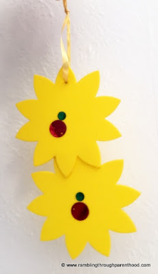 Minimalist and trendy yellow foam hanging flowers