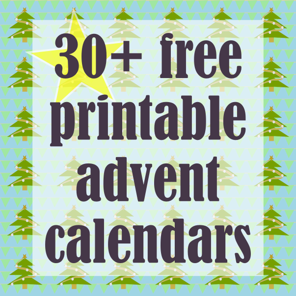 image relating to Advent Calendar Printable named ☞ 30 + No cost printable Do it yourself Introduction Calendars - ausdruckbare