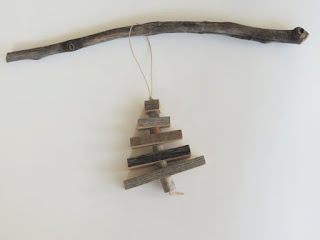 nava studio reclaimed wood christmas tree ornament