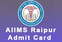 aiims raipur admit card 2017 - 2018