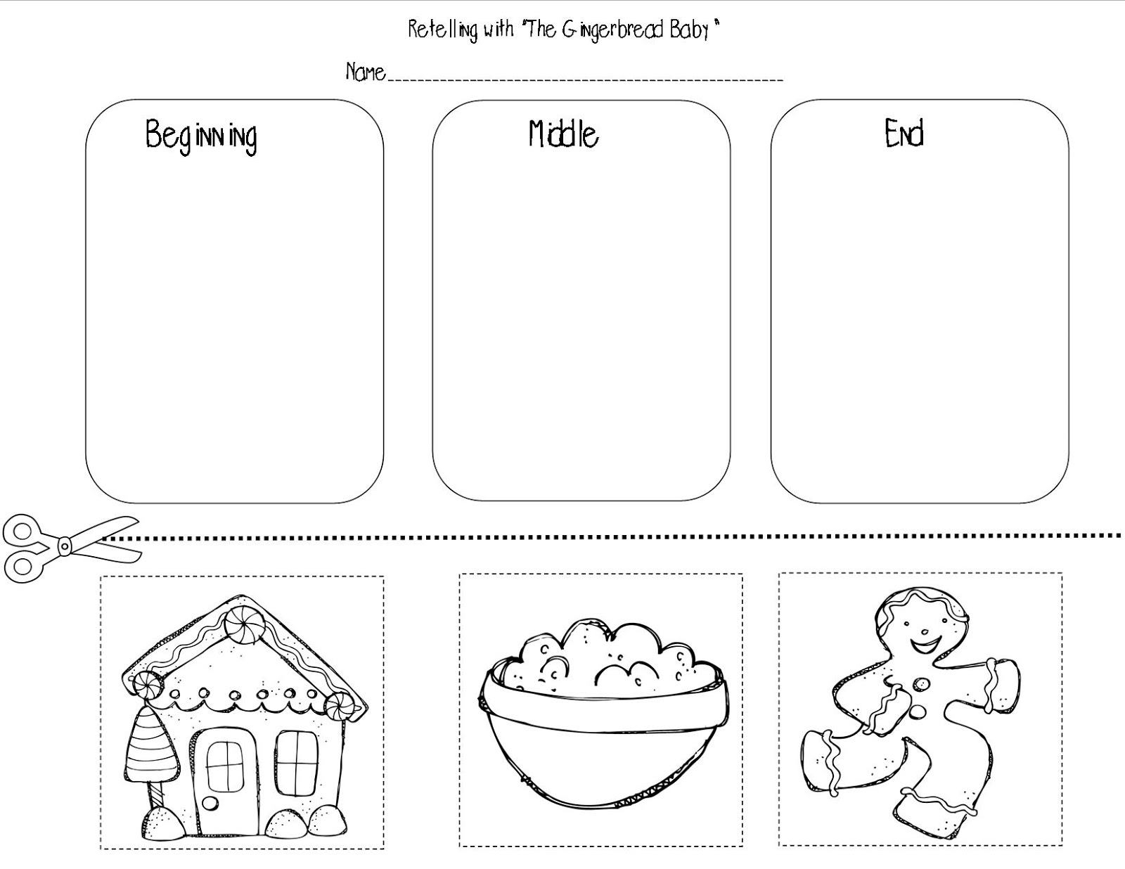 Mrs Bohaty S Kindergarten Kingdom Gingerbread Freebie