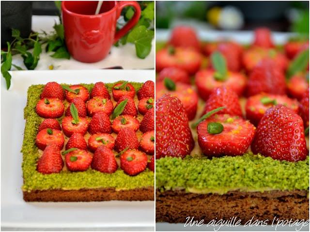Sablé breton, fraises de Plougastel et caramel au beurre salé, de Christophe Adam